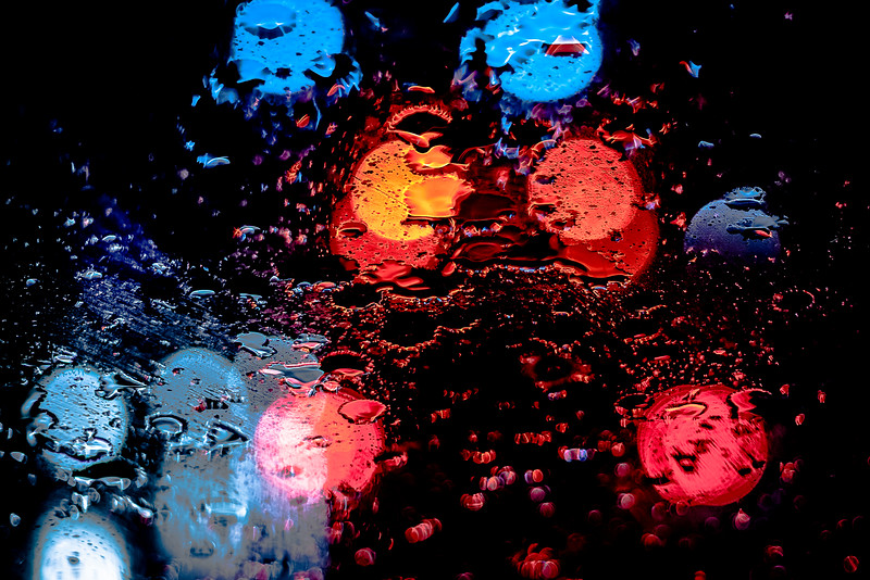 Late Night Rain Lights