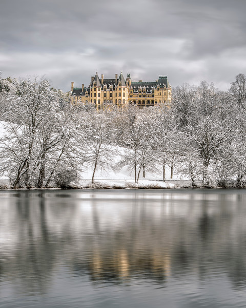 Winter Reflections At The Biltmore Estate.