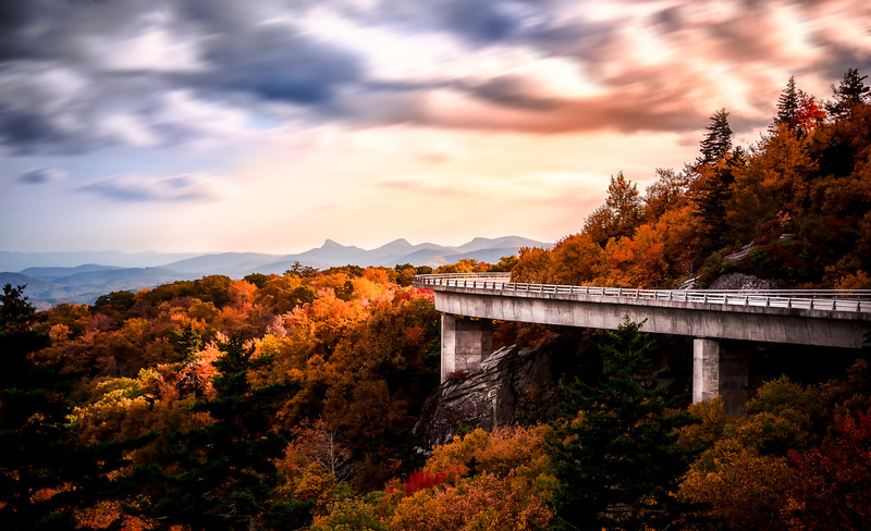 Linn Cove Viaduct in Fall