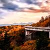 Linn Cove Viaduct in Fall