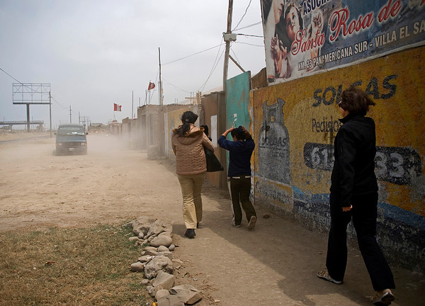 Lima, Peru Shanty town of Santa Rosa