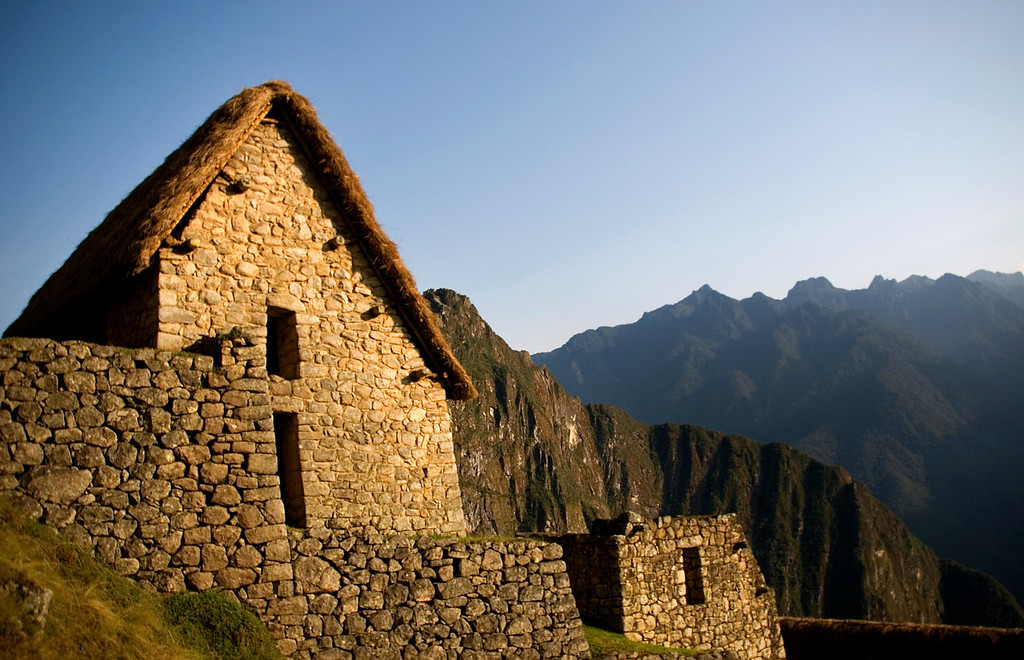 Hut at Machu Picchu, Peru
