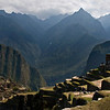 Early morning in the Andes Mountains and Machu Picchu