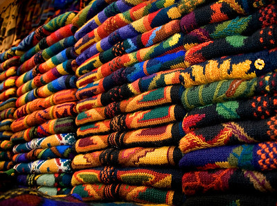 Alpaca sweaters in Peru
