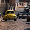 Volkswagen on cobblestone streets in Cuzco, Peru