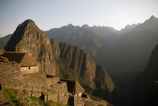 Machu Picchu, in the Andes Mountains, Peru, South America