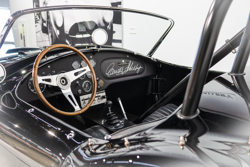 Interior of the first production model of the Shelby Cobra, 1962