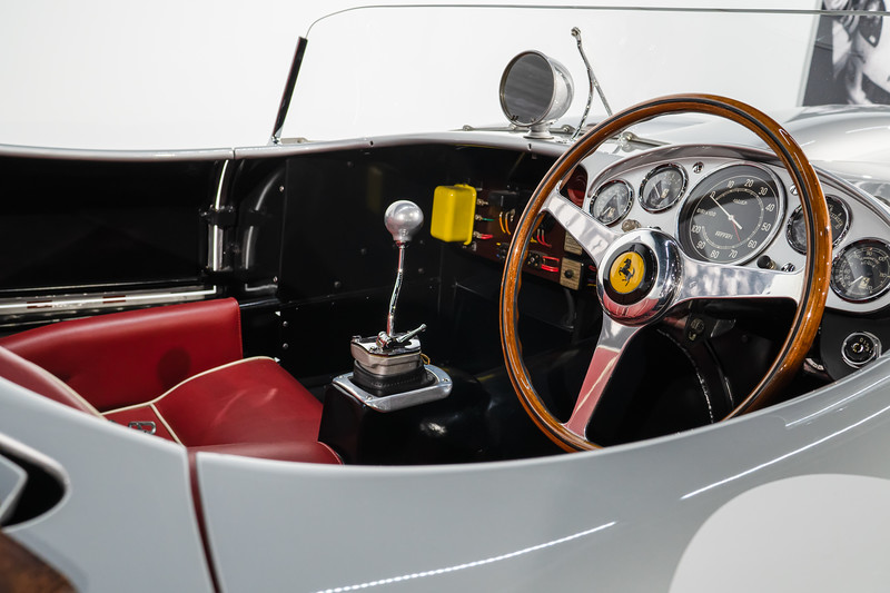 Interior of 1957 Tessa Rosa Ferrari