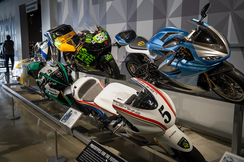 Electric racing motorcycles