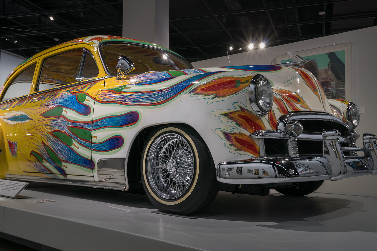 "1950 Chevrolet Sedan. Artist is Gilbert ""Magu"" Lujan"