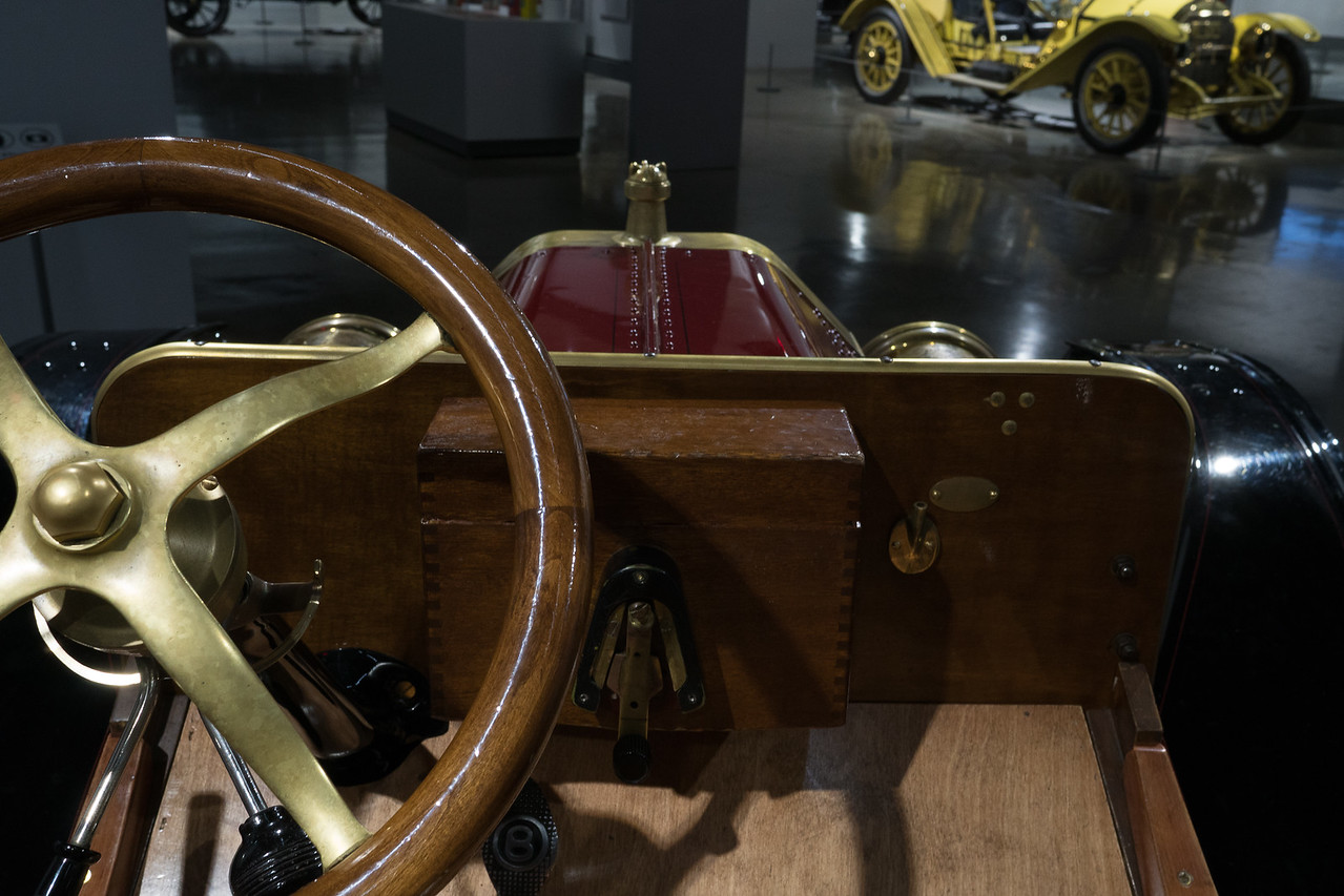 View from the seat of a 1910 Ford Model T