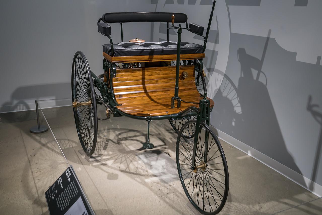 Replica of an 1886 Benz Patent Motorwagen