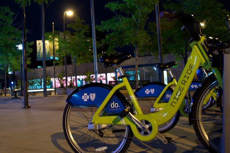 Day 281 -So in Minneapolis there are these bikes.  I think you have a card or something and pop it in to go.  In NYC we had Zip Car.