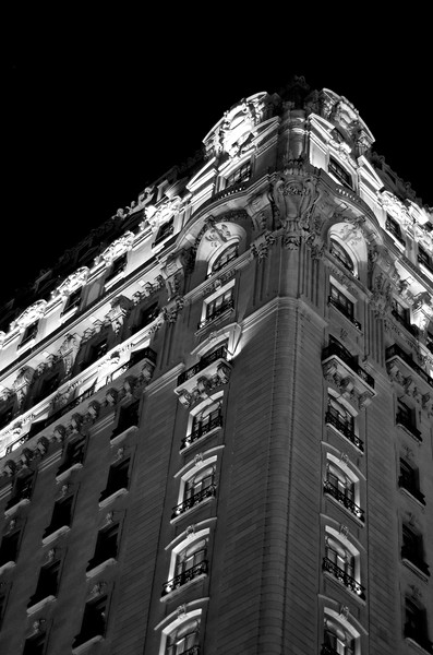 Day 209 -I've been eying the St Regis for a few days and when none of my earlier photos in the day panned out, Manny and I went out to capture it.  It is a beautiful building.  If you want to stay the night bring your desire for luxury and you better bring your Mastercard, because rooms start at $795.  Giving up color for Lent.
