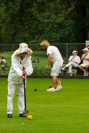 Day 012 -As Christina and I were walking home we got a little closer to an area we've never paid much attention to.  There was some pretty serious croquet going on.  White attire was a must.