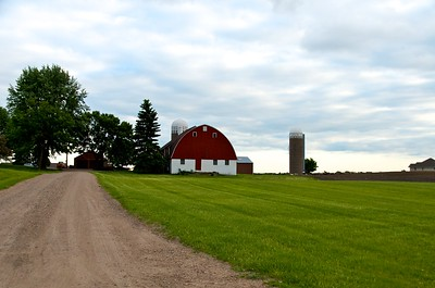 Day 276 -Just outside of Minneapolis I found some farmland.  I felt it was worth stopping for.