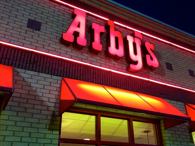 Day 271 -There's a lot of great food in NYC, but one thing they're missing is Arby's.  I got to have a sandwich for dinner.  I was by myself.  Litterally, I had the whole place to myself on a Friday night.  I'm a wildman.