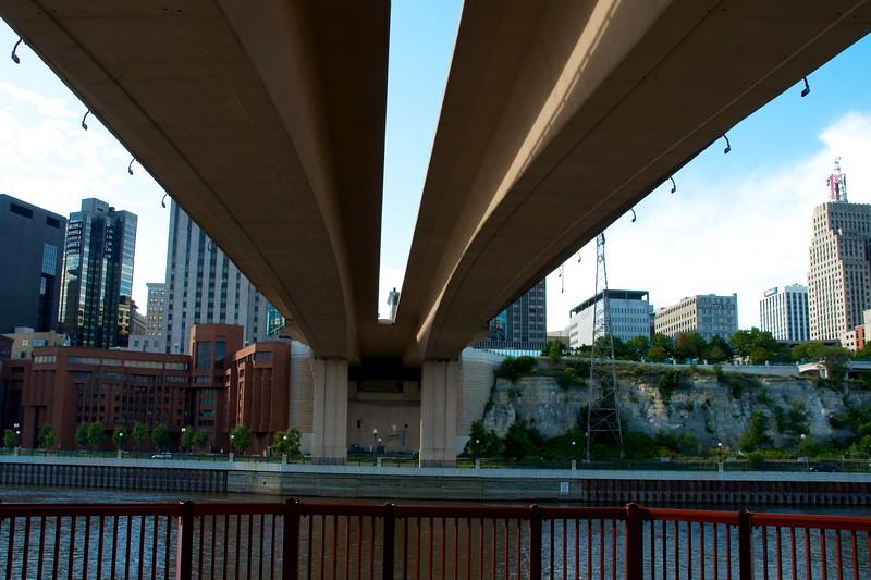 Dayc342-Under the Wabasha Bridge on my way to the Irish Fair.