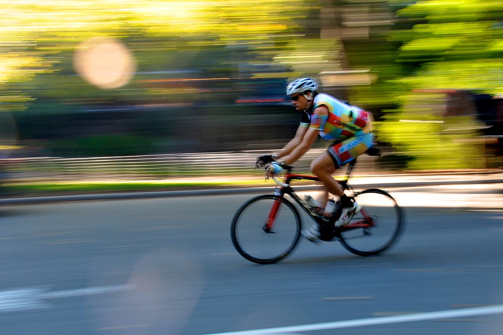 Day 033 -A biker cruises thru Central Park.  It's a little abstract but I liked it.  More importantly Christina picked this one and she's super smart.