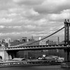 Day 191 -A nice day for a walk across the Brookly Bridge, which always makes for a good picture of the Manhattan Bridge.  Giving up color for Lent