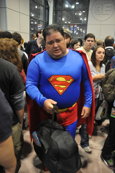 """Day 034 -Well the recession hits us all in different ways, but I never saw this coming.  The """"Man of Steal"""" is looking a little labored these days.  This is dedicated to my Capt. I should have gotten this Superman's number for her."""
