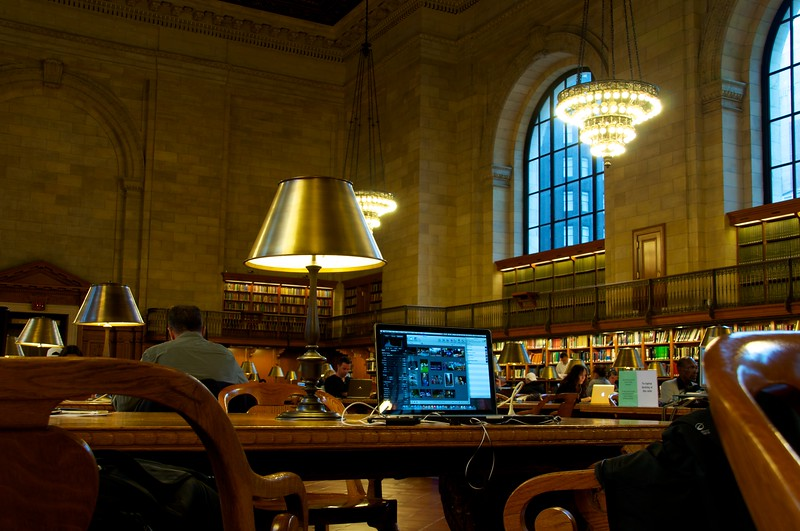 Day 025 -So as I was doing some work this afternoon, I thought it was appropriate to show everyone my new office.  This is where I'm most efficient these days.  However, I don't come here enough.  If you're wondering, it's the NYC public library.