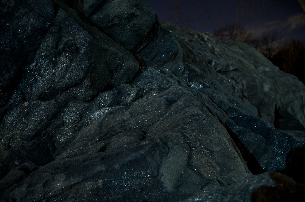 Day 121 -Playing around with some rocks at night turned into be artsy.  I just like the way the rocks sparkle at night.