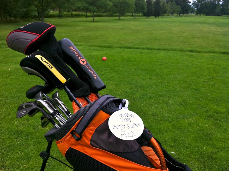 Day 291 -My first time out this year.  It was a much needed and I got to display my new golf tag.  It was clearly given to me by someone who hasn't golfed with me.  Unfortunately the best part about the tag is the other side.  It's a Chick-fil-a tag.