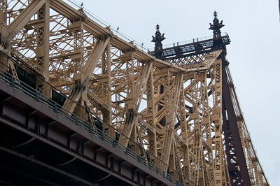 Day 030 -The Queensboro Bridge isn't so far from my apt, but I've never walked to it before.  I had a nice walk this afternoon doing a little exploring, but I only took bridge photos.  I'm not sure how I feel about this one.  I guess it will have to do.