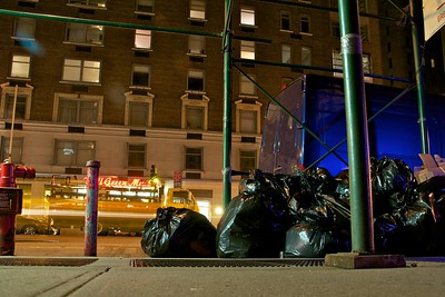 """Day 040 -Well it's garbage night, but in the unforgettable words of my good friend Avi Raval, """"Every night is garbage night in New York City."""""""