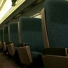 Day 042 -Today I got to do one of my favorite things, riding the Amtrak rails.  While stopped over in Philly I snapped this shot of my empty train car.  This was shortly before the crazy guy sat down next to me and then got booted off because he had no ticket.