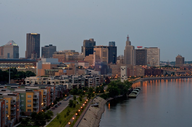 Day 352 -Had to get my new hometown in a photo.  Saint Paul, it's a pretty cool place.