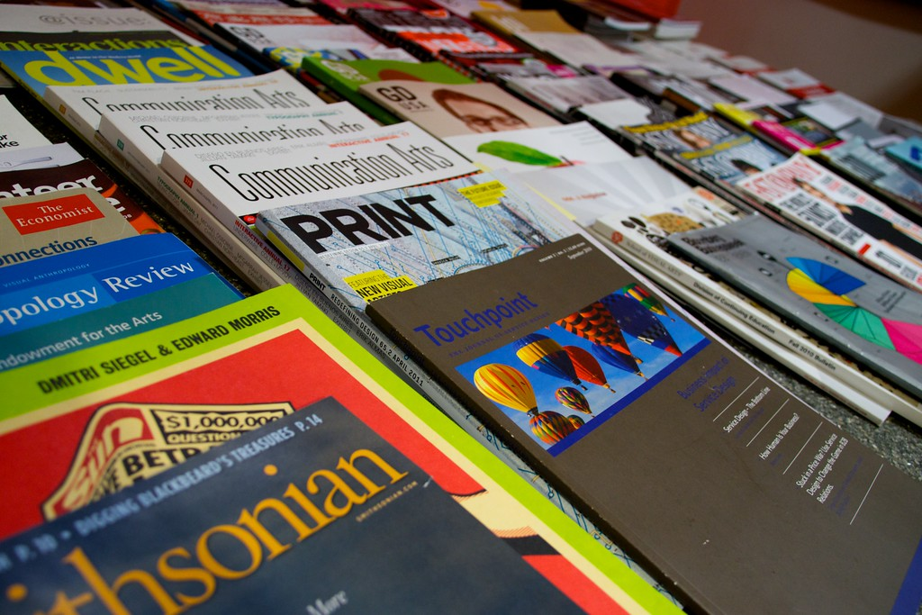 Day 184 -Today I was on a field trip to the American Institute of Graphic Arts Design Center.  It was very interesting tour and a cool organization if you're into graphic design.  Check it out http://www.aiga.org Anyway This was just some periodicals they had in their library.  I was wanting to do something colorful today.