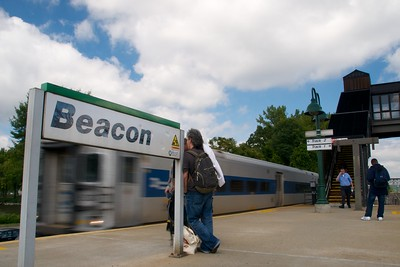 Day 008 -Here comes my train.  This is the Beacon stop in upstate N.Y., that I take to get to my National Guard base.  I also had to take this 1hr 20 min train ride for 9 months while working at the base full time.
