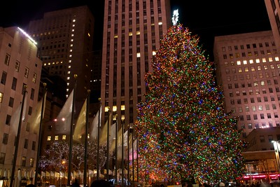 Day 114 -You knew I couldn't do a Christmas series in NY without including the Rockefeller tree.  Manny and I finally made it.  If you're worried about seeing the ice skating, it's coming.