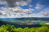 View from southern part of Tussey ridge, Rothrock State Forest, vicinity of Spruce Creek, PA, USA, July 2021
