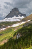Mount Clements, viewed from one of many side parking spots off Going to The Sun Road, Glacier National Park, Montana, USA, Summer 2017