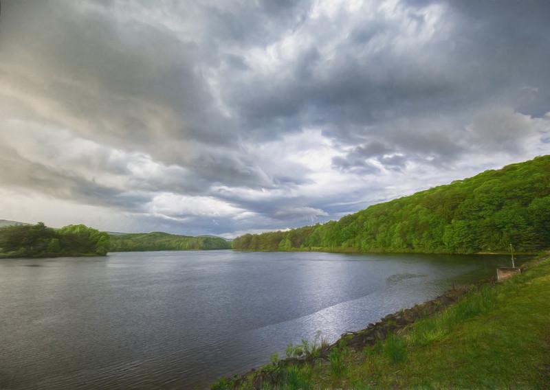 Lake Perez, central PA, USA, May 2020
