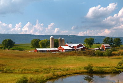 Mennonite farm in the vicinity of Belleville, PA, USA, Summer 2016