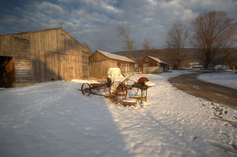 Amish farm, Big Valley region of Pennsylvania, USA, February 2017