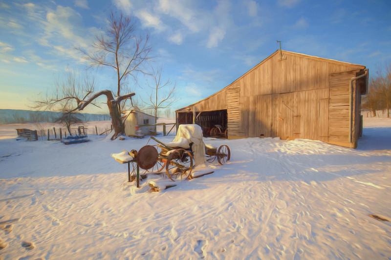 Amish farm, Big Valley region of Pennsylvania, USA, February 2017