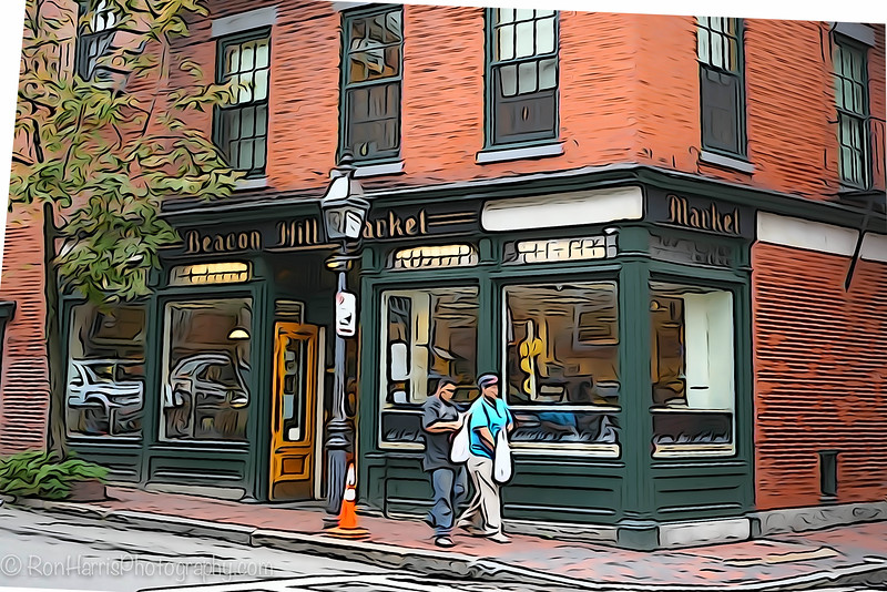 Cute little corrner grocery store in a Boston neighborhood.
