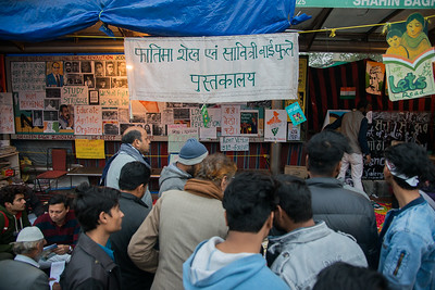 Fatima Sheikh-Savitri Bai Phule Library, just about 50 metres from the main protest site of Shaheen Bagh, is giving protesters another way to register their stir apart from sloganeering.