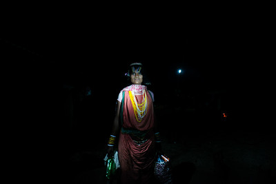 Portrait of a Dongria woman who was returning from the weekly market, 15 km from the Lakhpadar village.