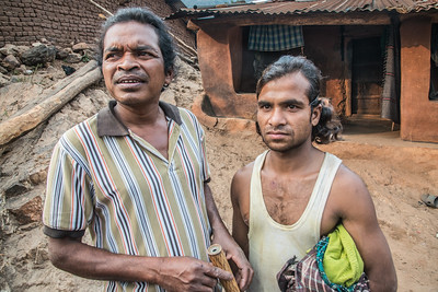 Lodo Sikoka (L) and Huika Samba are the faces of the movement. Both live in Lakhpadar. Both have been targeted by company goons and harassed by the administration.