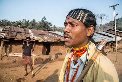 A Dongria man in traditional dress.