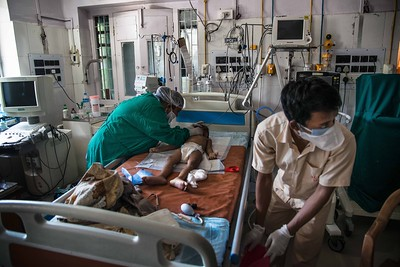 Inside the paediatric ICU, a delicate patient receives attention. The Federation of Resident Doctors Associations, Kolkata, has written to the Indian health ministry seeking protection and safety. Several doctors and nurses have reported harassment from neighbours.