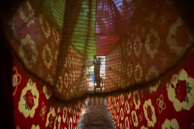 Decorators are preparing the pandal.