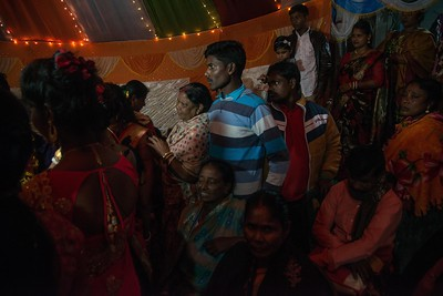 On the wedding eve, villagers pour over to witness Priyanka's wedding.