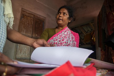On the wedding day a letter arrived from the District Legal Service Authority (DLSA) office requesting Pushpa to visit their Kolkata office for the hearing of Arjun's compensation case on the Tiger attack. The compensation is pending more than year now. Pushpa being a single mother she is facing tremendous hardship because financial  crunch.
